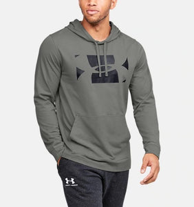 UNDER ARMOUR MENS SPORTSTYLE GRAVITY GREEN HOODIE
