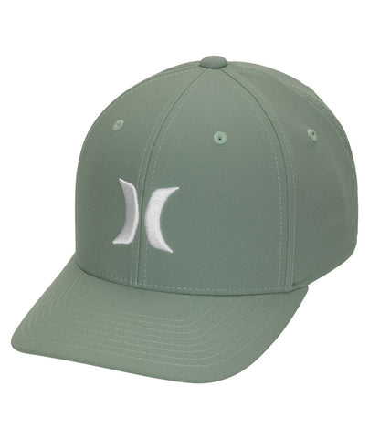 HURLEY MENS DRI FIT ONE AND ONLY GREEN/WHITE HAT