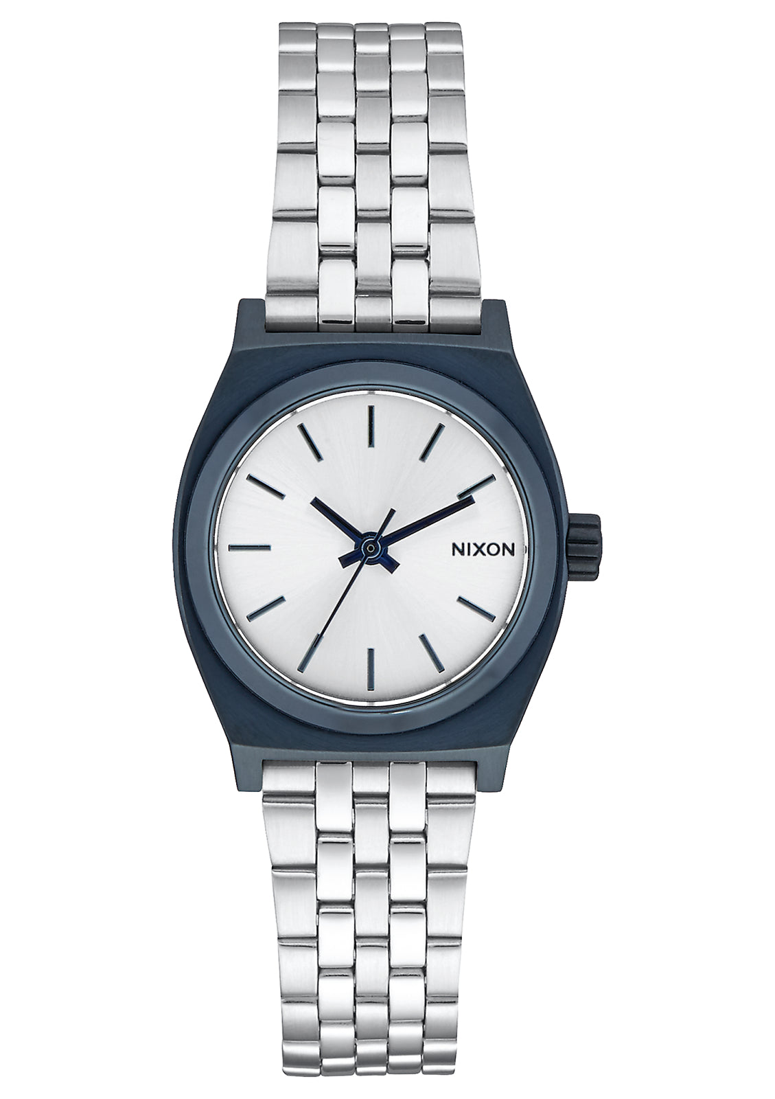 NIXON SMALL TIME TELLER NAVY/SILVER WATCH