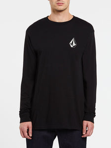 VOLCOM MENS DEADLY STONES LS BLACK TSHIRT