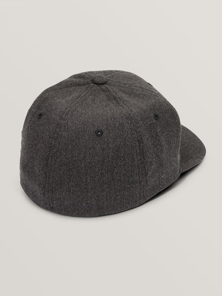 VOLCOM MENS FULL STONE CHARCOAL HEATHER FLEXFIT HAT