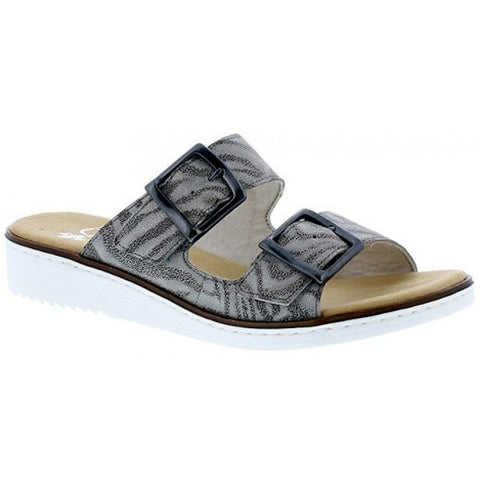 RIEKER LADIES 62499-40 BLACK COMBINATION SANDAL