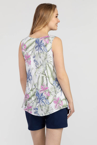TRIBAL LADIES SLEEVELESS SWING BLOUSE AZALEA TOP