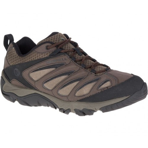 MERRELL MENS OUTPULSE LEATHER BLACK/BRACKEN SHOE