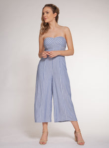 DEX CLOTHING LADIES STRIPED JUMPSUIT