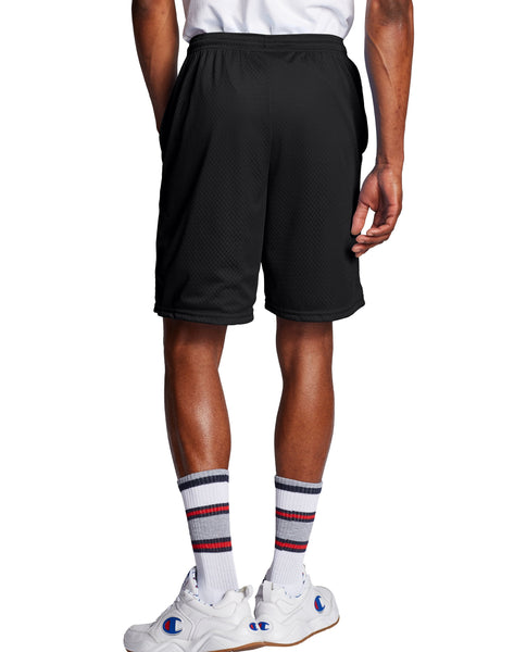 CHAMPION MENS 9-INCH CLASSIC MESH BLACK SHORT