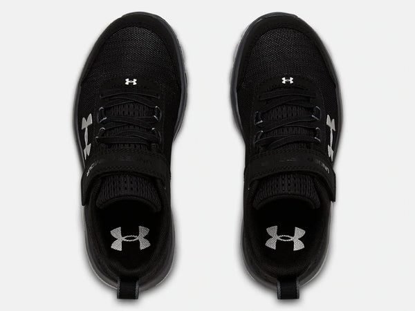 UNDER ARMOUR YOUTH PS ASSERT 8 AC BLACK RUNNING SHOE