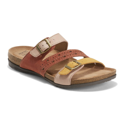 EARTH ORIGINS LADIES ORONO FELIX AMBER YELLOW SANDAL
