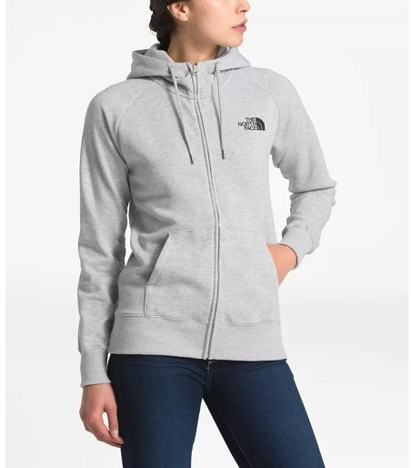 THE NORTH FACE LADIES HALF DOME FULL ZIP LIGHT HEATHER GREY HOODIE