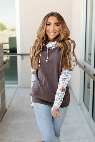 AMPERSAND AVE LADIES WILDFLOWERS DOUBLEHOOD HOODIE