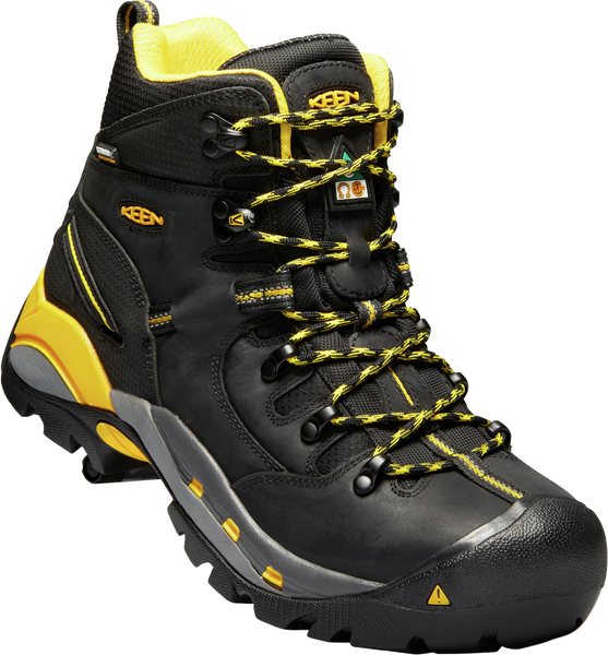 KEEN MENS CSA HAMILTON CARBON WP BLACK/YELLOW BOOT