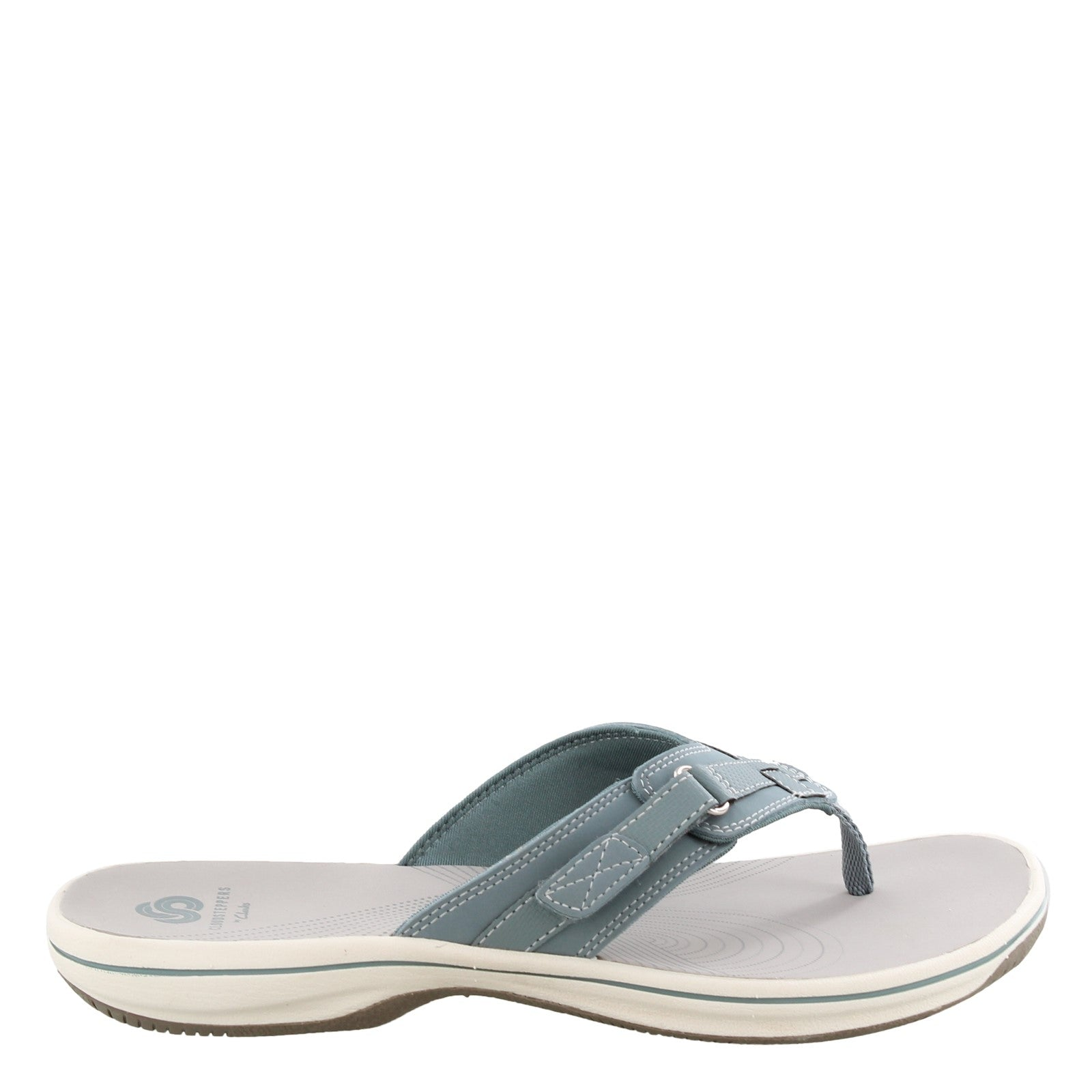 CLARKS LADIES BREEZE SEA BLUE GREY SANDAL