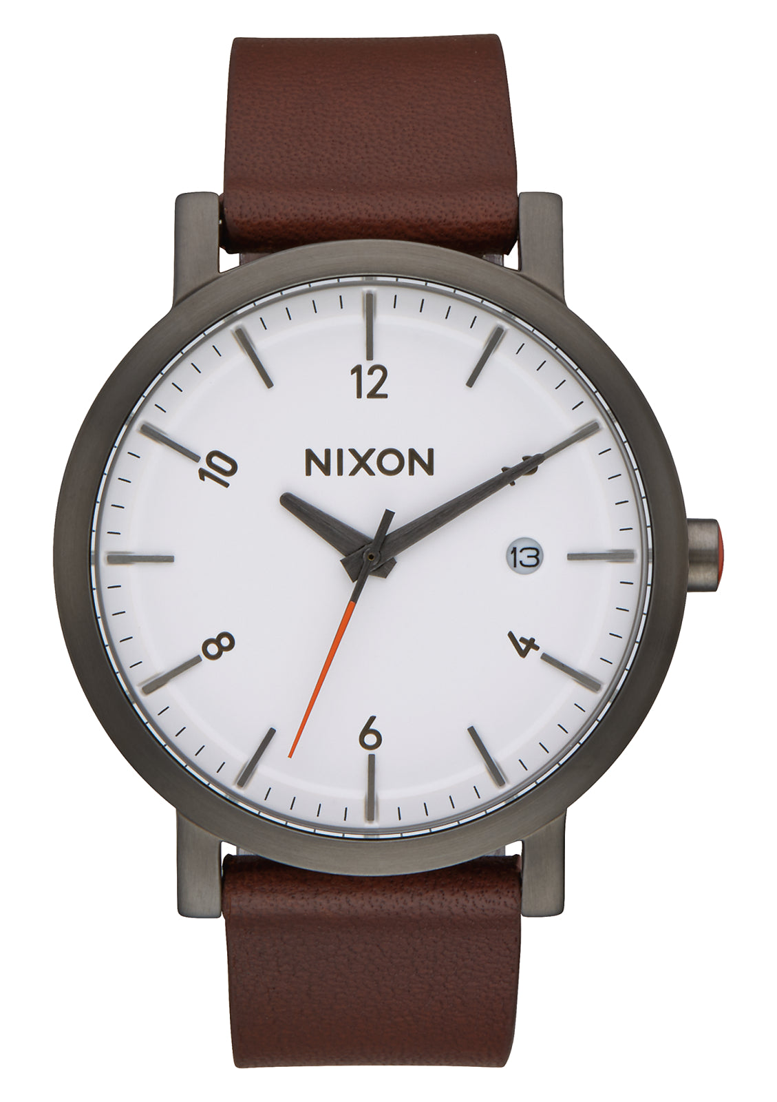 NIXON ROLLO 38 GUNMETAL/WHITE/BROWN WATCH