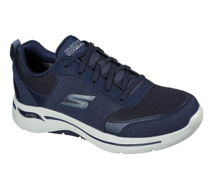 SKECHERS MENS GO WALK ARCH FIT RECHARGE NAVY/BLACK RUNNING SHOE