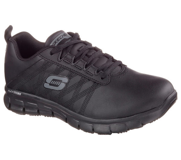 SKECHERS LADIES SURE TRACK ERATH  BLACK RUNNING SHOE