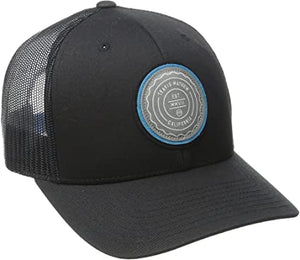 TRAVIS MATHEW MENS TRIP L BLACK SNAPBACK HAT