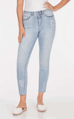 FDJ LADIES OLIVIA COOL-COOL BLUE SLIM ANKLE JEAN