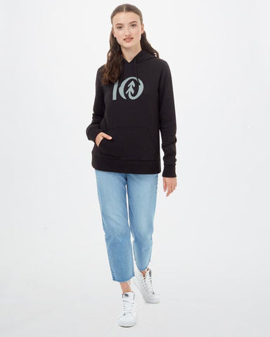 TEN TREE LADIES TEN CLASSIC METEORITE BLACK HOODIE