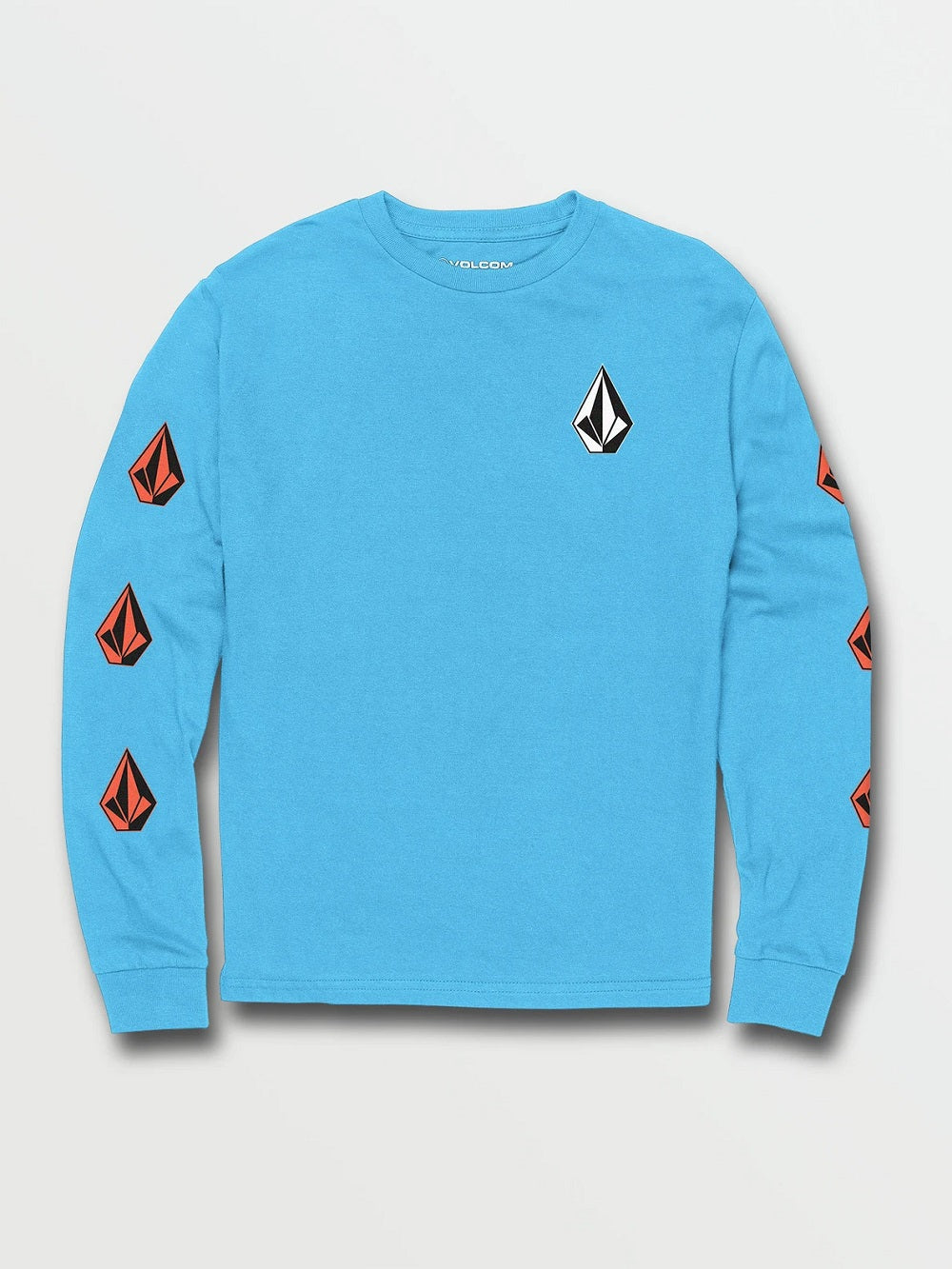 VOLCOM YOUTH DEADLY STONES LS AQUA TSHIRT