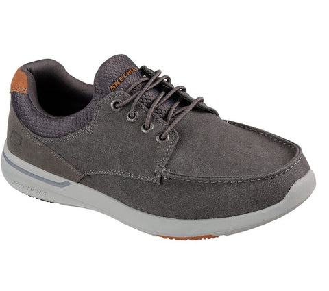SKECHERS MENS ELENT MOSEN CHARCOAL CASUAL SHOE