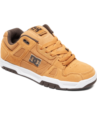 DC MENS STAG BROWN/BROWN/WHITE SHOE