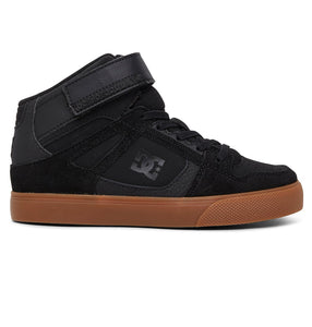 DC YOUTH PURE HIGH TOP BLACK/GUM SHOE