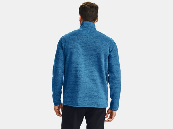UNDER ARMOUR MENS SPECIALIST HENLEY GRAPHITE BLUE HOODIE