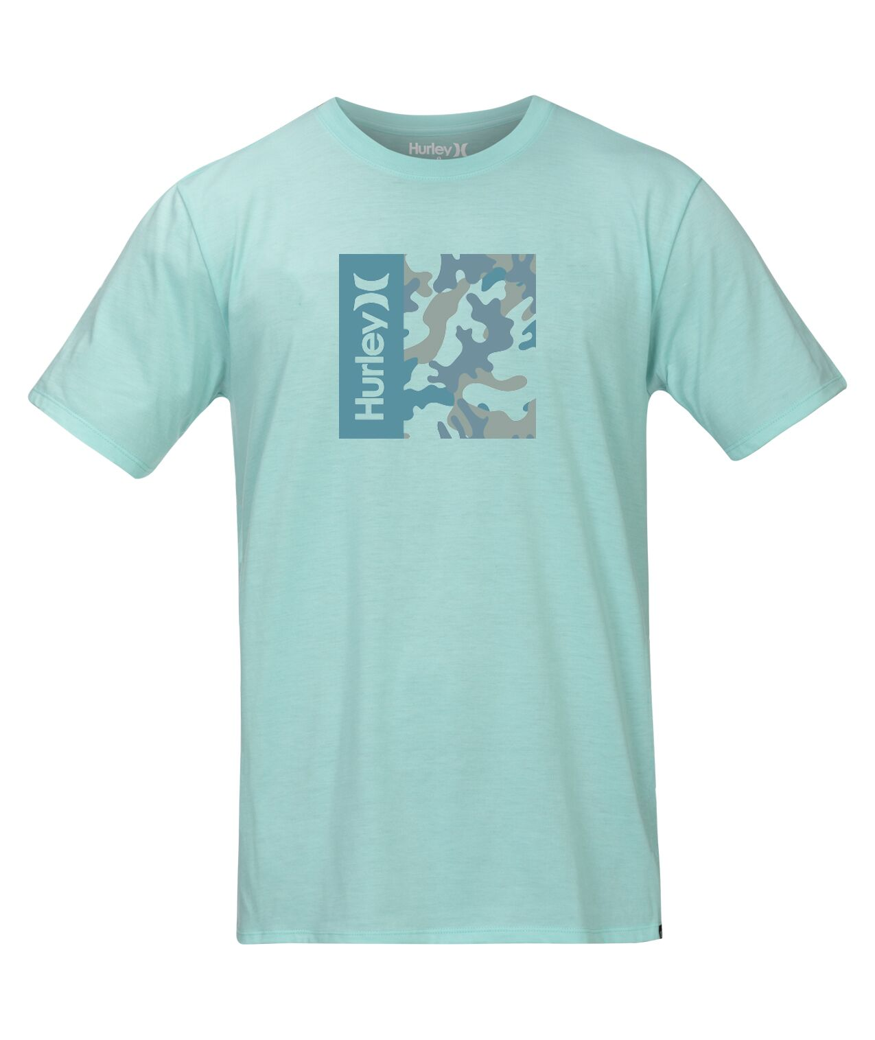 HURLEY MENS SIRO ONE AND ONLY CAMO BLUE TSHIRT