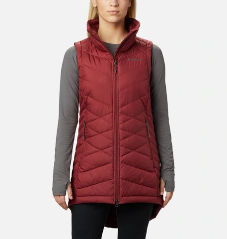 COLUMBIA LADIES HEAVENLY MARSALA RED VEST