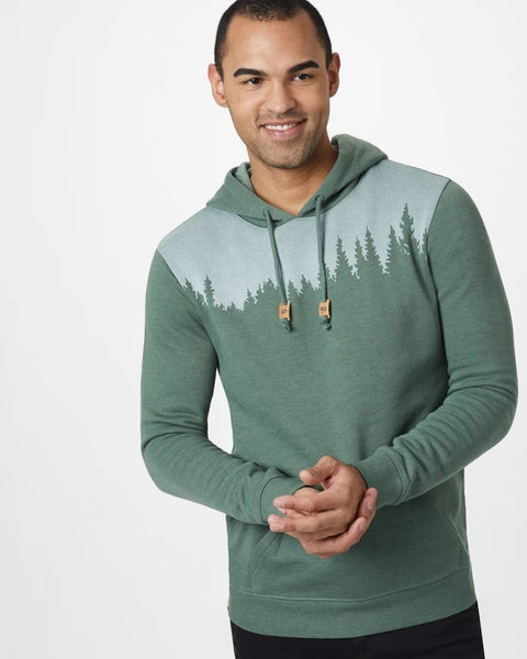 TEN TREE MENS JUNIPER FOREST GREEN HEATHER HOODIE