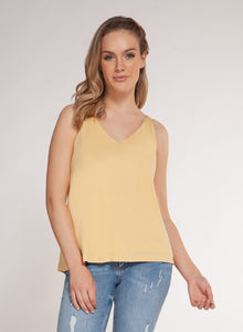 DEX CLOTHING LADIES CANARY YELLOW TANK