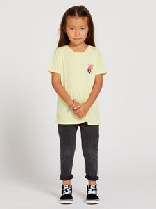 VOLCOM YOUTH GIRLS LAST PARTY TROPIC YELLOW TSHIRT
