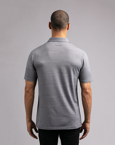 TRAVIS MATHEW MENS MORE BETTERNESS HEATHER GREY GOLF SHIRT