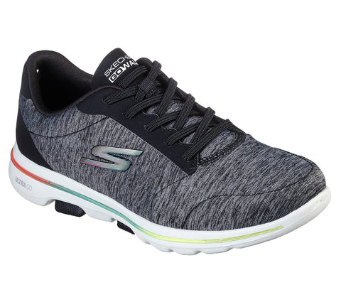 SKECHERS LADIES GO WALK 5 PRODIGY BLACK/MULTI SHOE