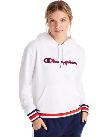 CHAMPION LADIES CAMPUS FRENCH TERRY WHITE HOODIE