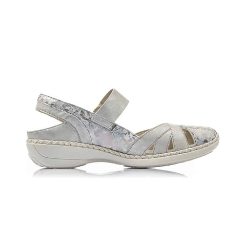 RIEKER LADIES 413V2-90 METALLIC SANDAL