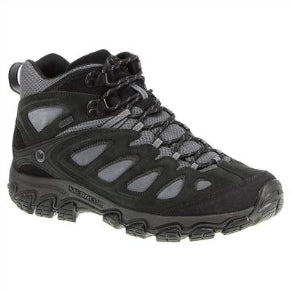 MERRELL MENS PULSATE MID WTPF BLACK/CASTLE ROCK SHOE