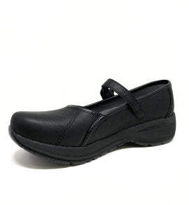 DANSKO LADIES STEFFI BLACK TUMBLED SHOE