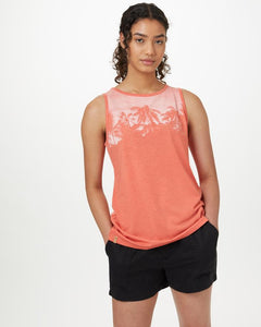 TEN TREE LADIES PALM CLASSIC BURNT SIENNA ORANGE HEATHER TANK