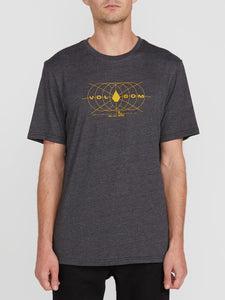 VOLCOM MENS HMMMMM HEATHER BLACK TSHIRT