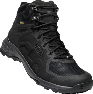 KEEN MENS EXPLORE MID WP BLACK/MAGNET SHOE
