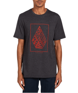 VOLCOM MENS EXPEL HEATHER BLACK TSHIRT