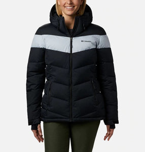 COLUMBIA LADIES ABBOTT PEAK INSULATED BLACK/CIRRUS GREY WINTER JACKET