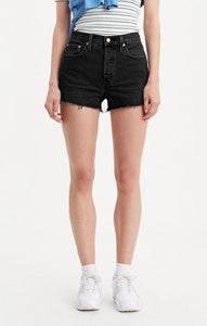 LEVI LADIES 501 ORIGINAL LUNAR BLACK SHORT