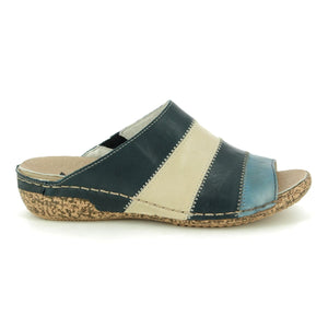 RIEKER LADIES V7266-15 BLUE COMBINATION SANDAL