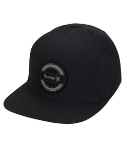 HURLEY MENS DRI FIT HURRICANE PATCH BLACK HAT