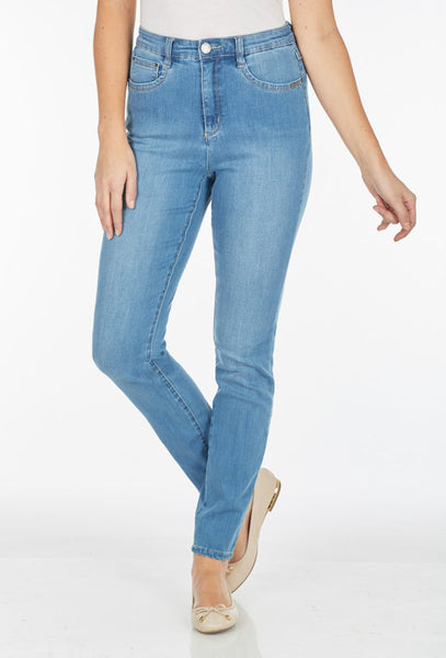 FDJ LADIES SUZANNE SLIM LEG CHAMBRAY JEAN