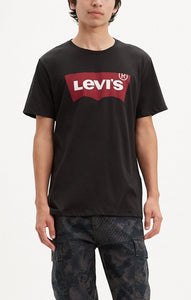 LEVI MENS GRAPHIC SET-IN NECK BLACK TSHIRT