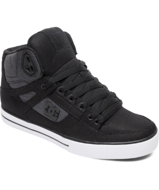 DC MENS PURE HIGH TOP WC TX SE BLACK/DARK USED SHOE