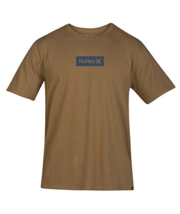 HURLEY MENS ONE AND ONLY SMALL BOX BROWN SHIRT